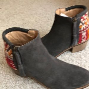 "Gray suede ""Howsty"" boots from Anthropologie"